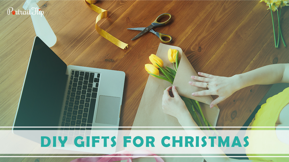 DIY Gifts For Christmas: A girl making a DIY Christmas gifts for her friends and loved ones.