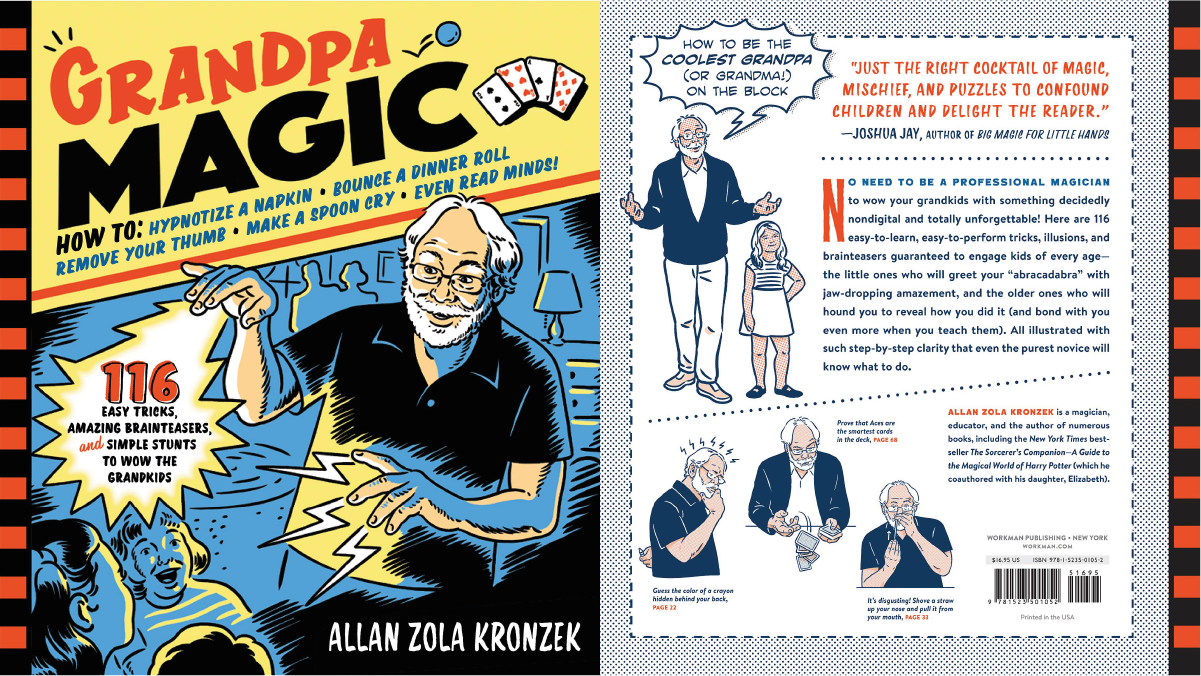 On left: the cover photo of Grandpa Magic. on the right:
