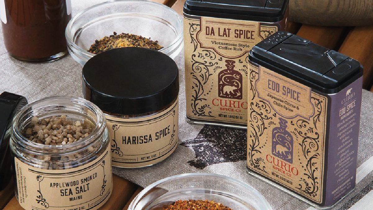 a collection of grilling spice set on a table.