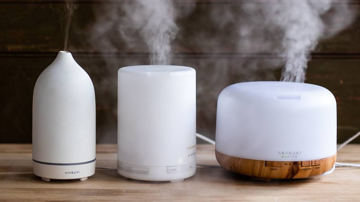 different sized Oil diffusers on a table