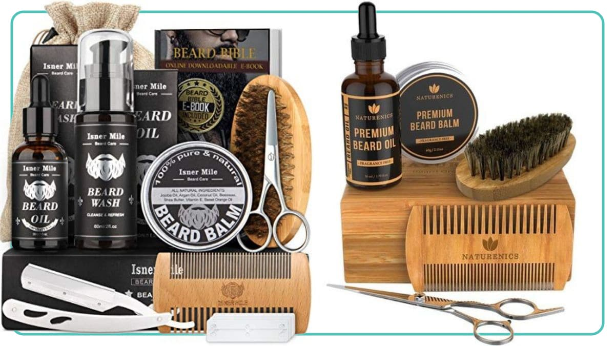 bead grooming kits with a lot of men grooming accessories