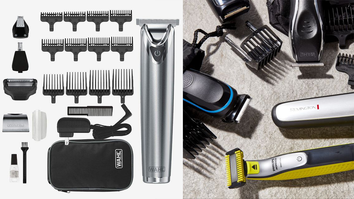 Beard trimmer kit with its accessories.