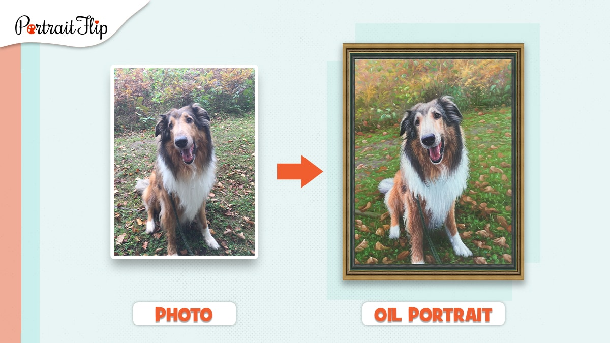 A painting of a dog made from photo by PortraitFlip.