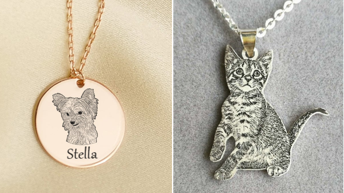 Personalized Pet Necklace with their name.