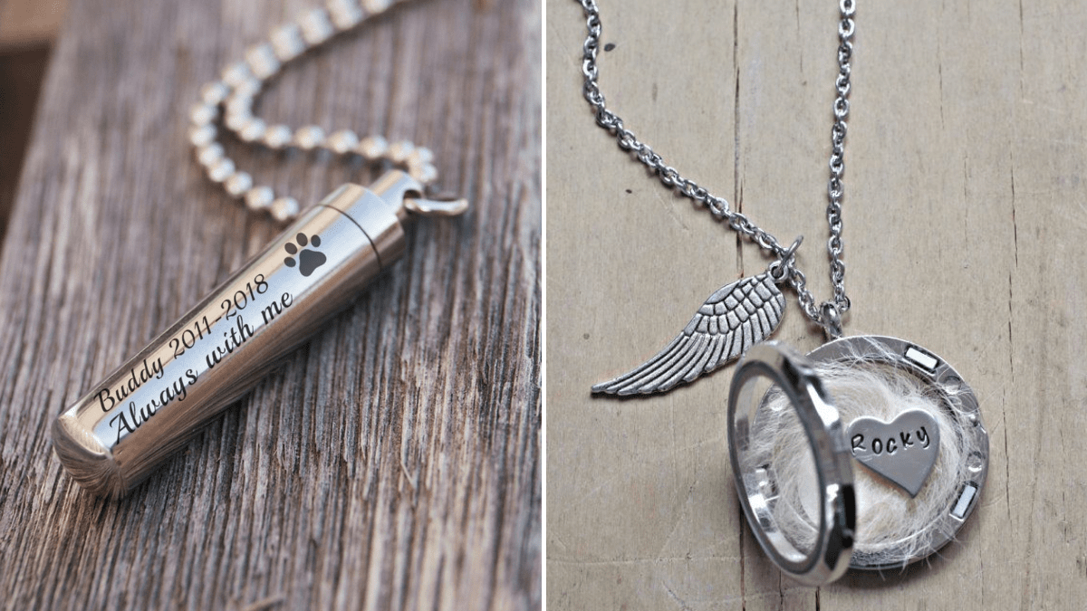Pet Memorial Jewelry that is personalized.