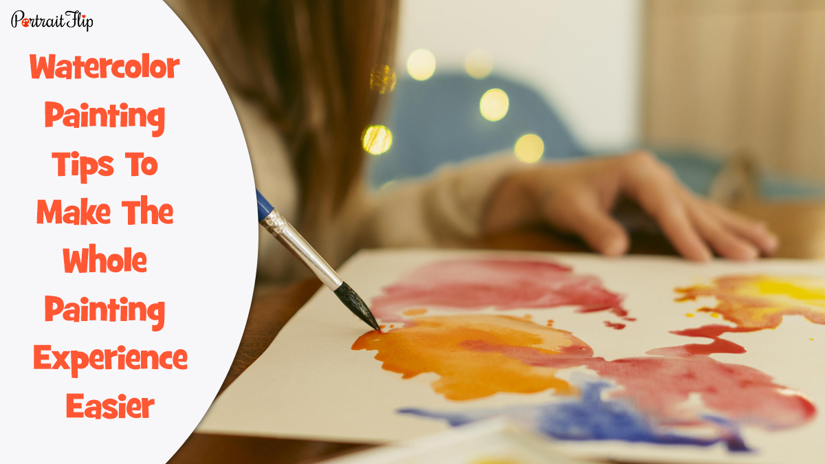 Watercolor Painting Tips: a girl painting a beautiful watercolor painting.