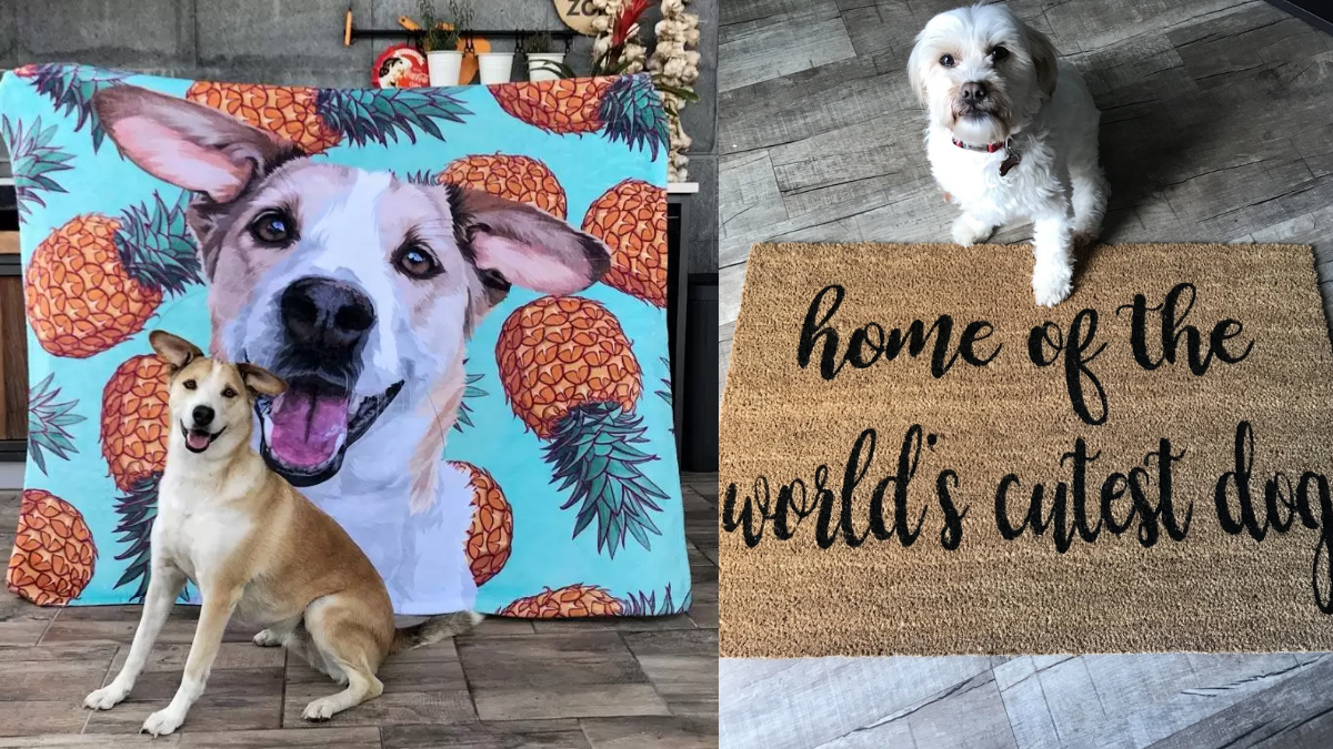 Customized Dog Mat with different designs.