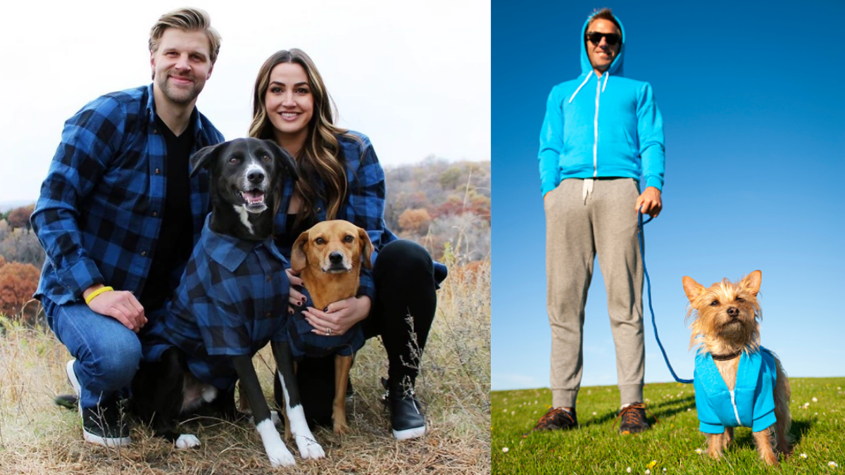 Matching Holiday Pajamas for pets and their owners.