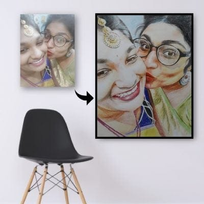 colored pencil photo to painting