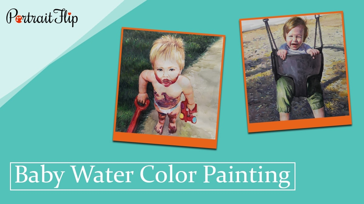 Baby water color painting