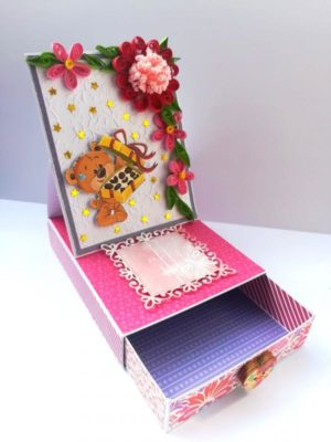 Card with drawer gift greeting