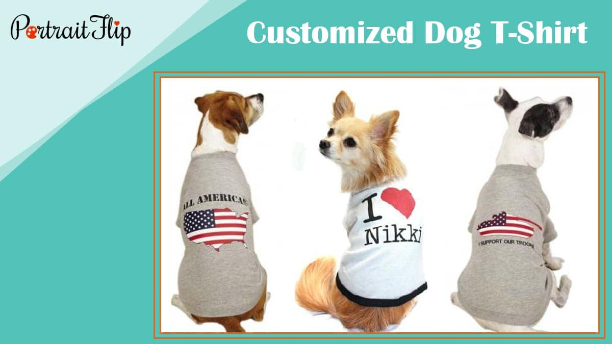 Customized dog t shirt