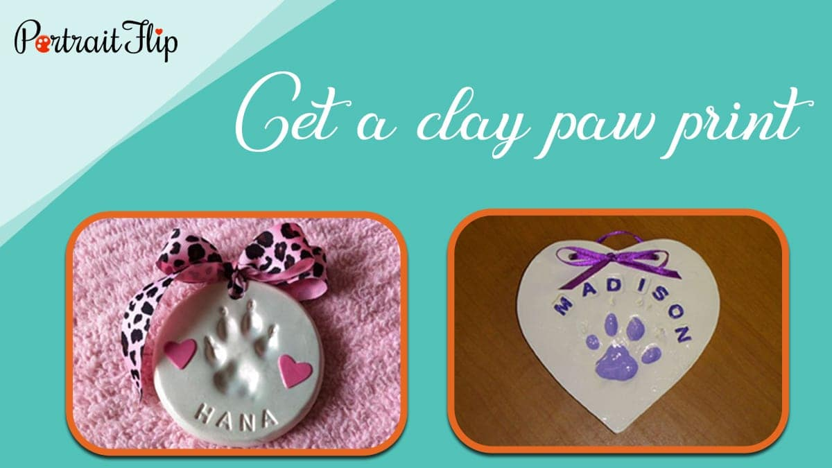 Get a clay paw print