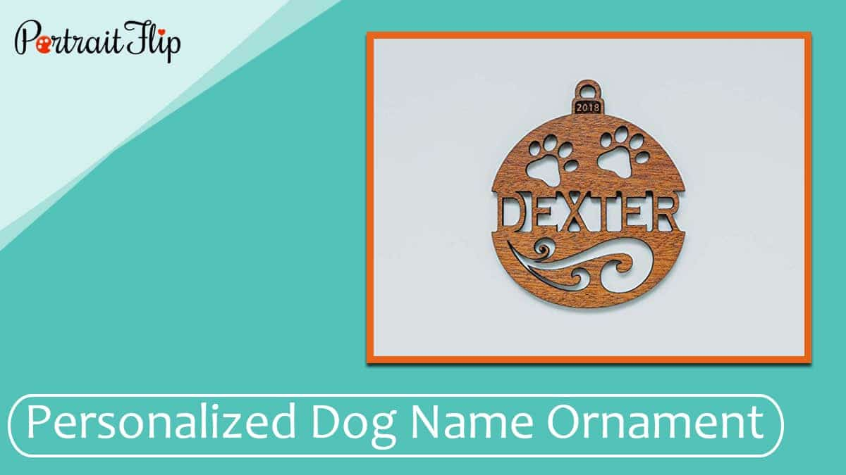 Personalized dog name ornament