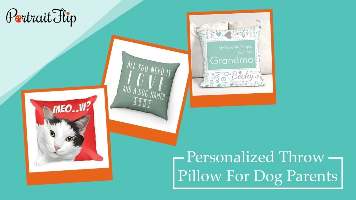 Personalized throw pillow for dog parents