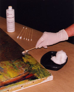 Clean oil painting