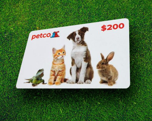Pet store gift card