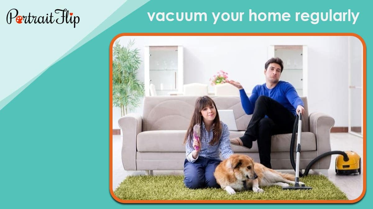 Vacuum your home regularly